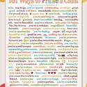 101 Ways To Praise A Child Printable