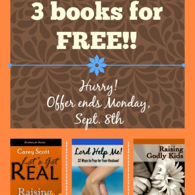 Download my books for FREE thru Monday!