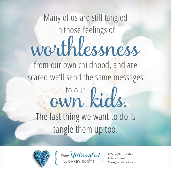 When our tangles… tangle our kids