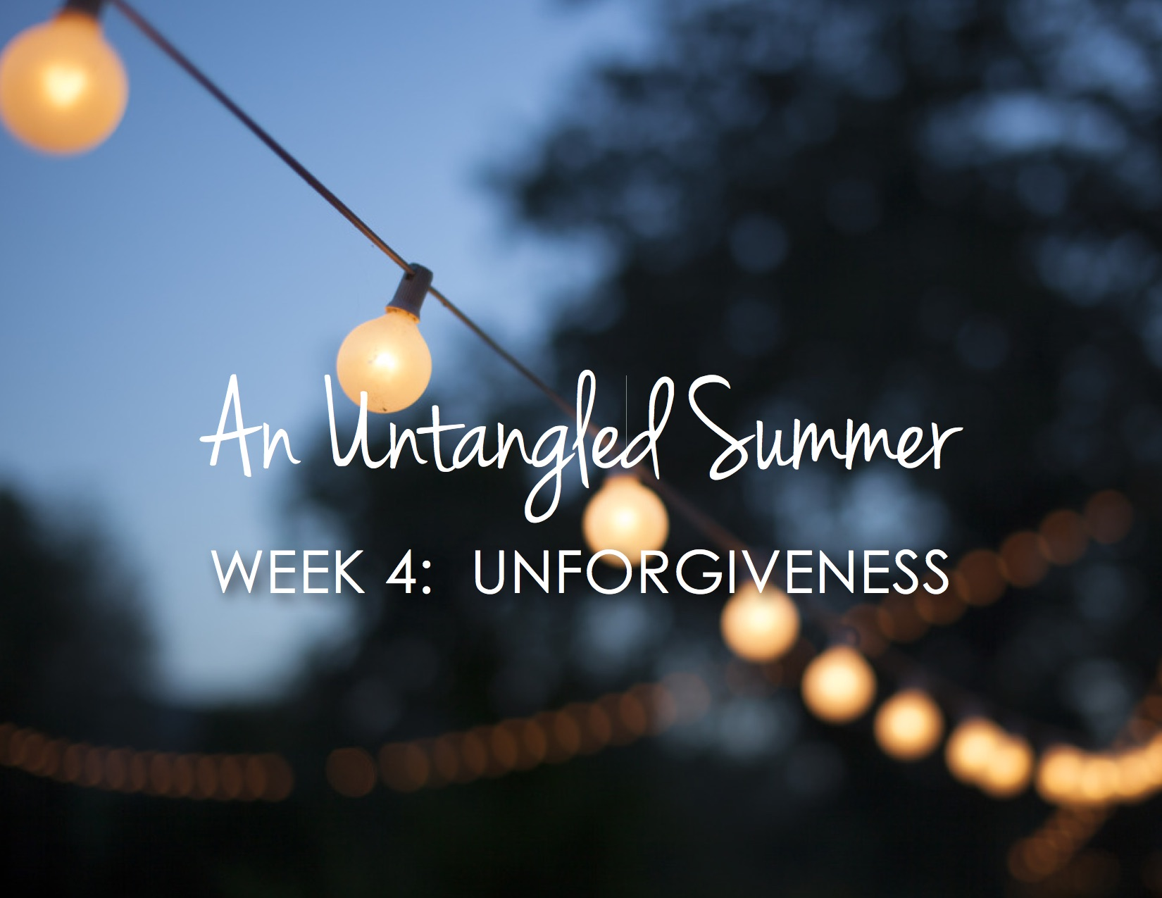 When you don't want to forgive {An Untangled Summer study}