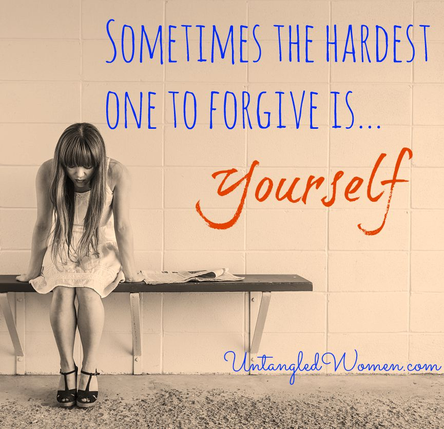 Sometimes the hardest one to forgive is yourself {An Untangled Summer study}