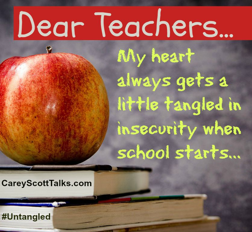 When you want your kids untangled: An open letter to teachers