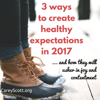 Why healthy expectations can make all the difference in 2017