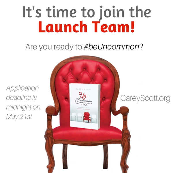 Your invitation to join my launch team!