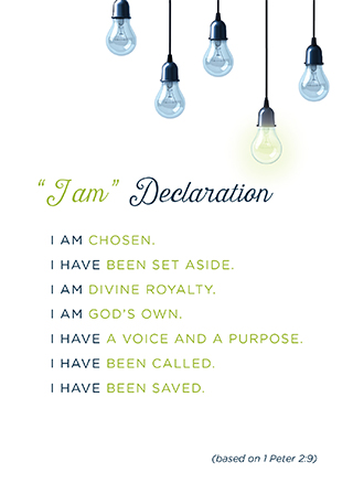 Unafraid - I Am Declaration (Downloadable PDF)