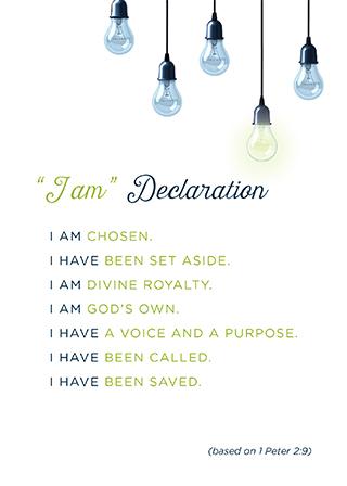 Unafraid - I Am Declaration (Downloadable PDF)