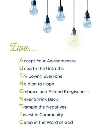 Unafraid - Live Authentic Print (Downloadable PDF)