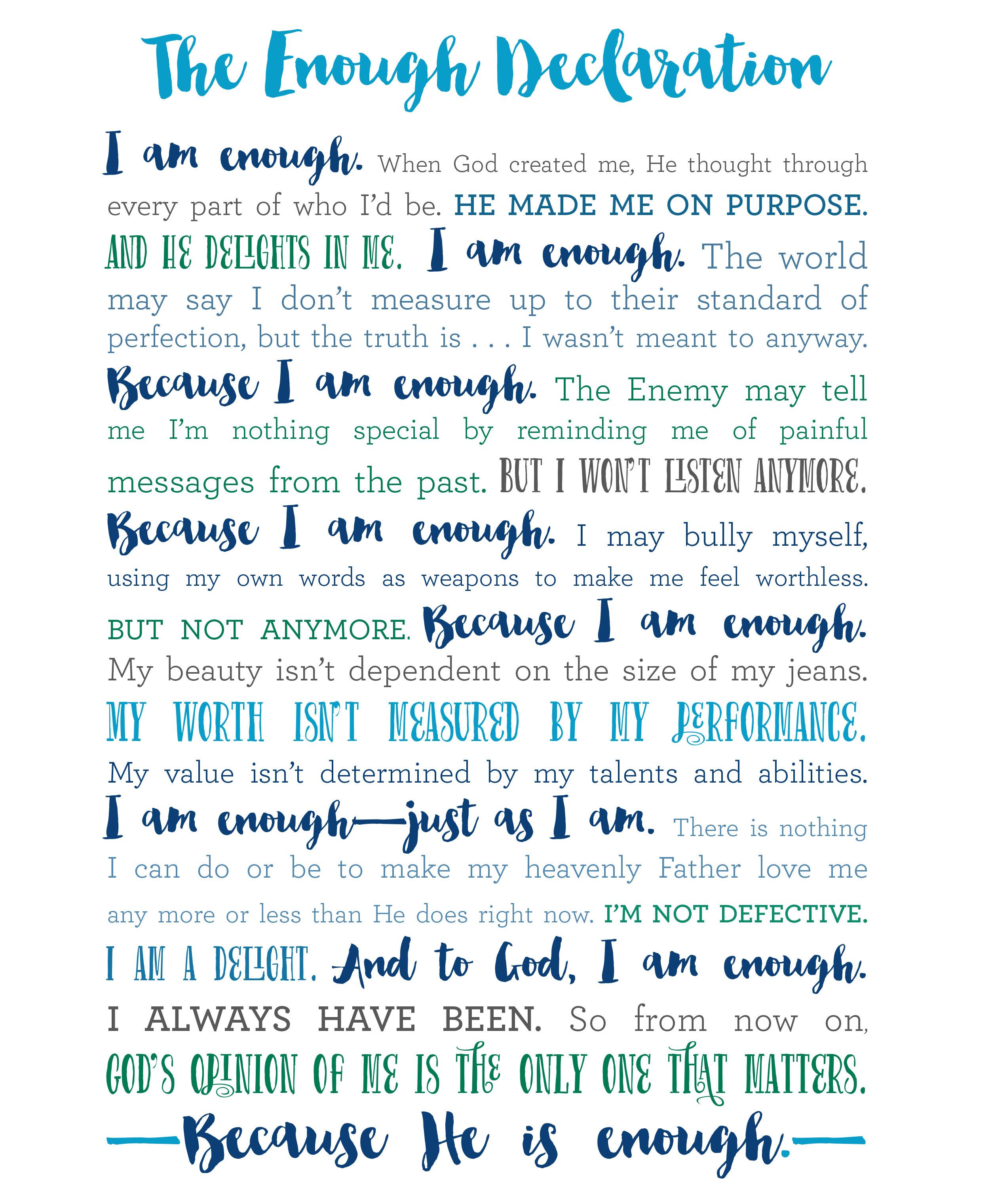 When enough is enough…